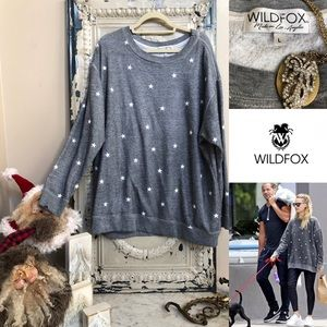 WILDFOX star oversized pullover couture sweatshirt